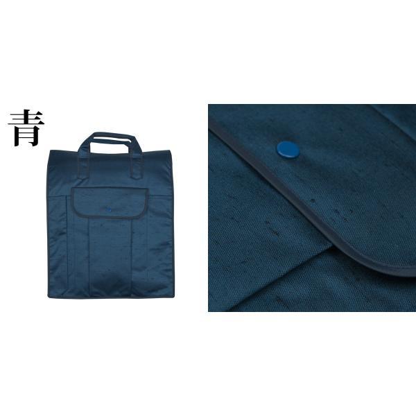 (着物バッグ 紬)日本製 着物バッグ レディース あづま姿 つむぎ織り 和装バッグ 着物収納バッグ 無地(zr)|kyoetsuorosiya|05