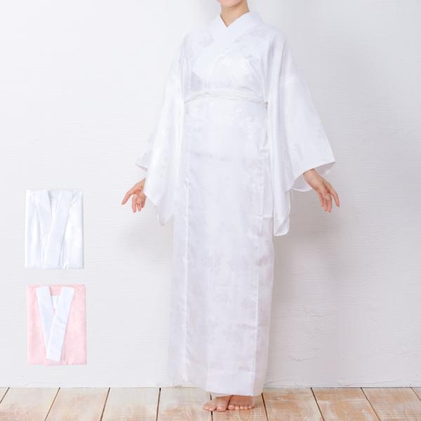 (長襦袢 白/ピンク) 洗える 長襦袢 半襟付 レディース 女性 衣紋抜き 大きいサイズ 襦袢 着物 和服 訪問着 S/M/L/TL/BL|kyoetsuorosiya