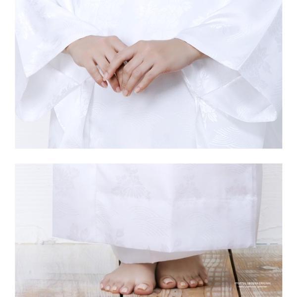 (長襦袢 白/ピンク) 洗える 長襦袢 半襟付 レディース 女性 衣紋抜き 大きいサイズ 襦袢 着物 和服 訪問着 S/M/L/TL/BL|kyoetsuorosiya|05