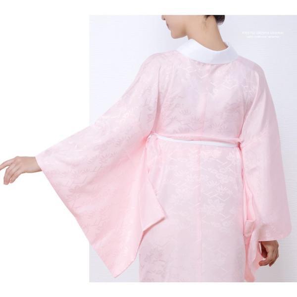 (長襦袢 白/ピンク) 洗える 長襦袢 半襟付 レディース 女性 衣紋抜き 大きいサイズ 襦袢 着物 和服 訪問着 S/M/L/TL/BL|kyoetsuorosiya|06