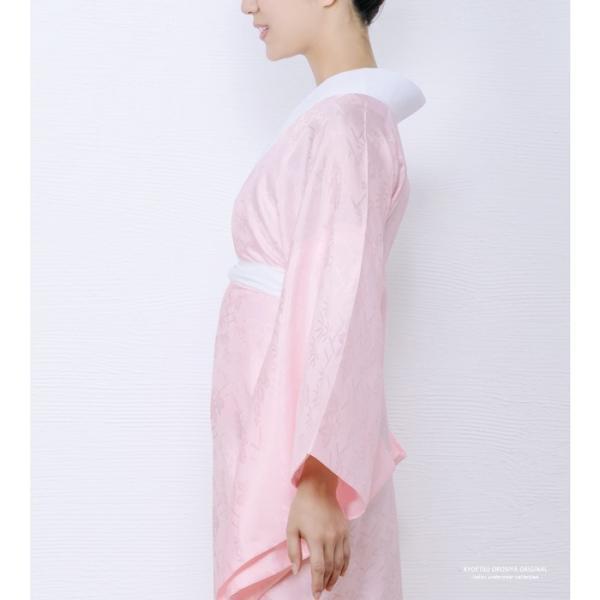 (長襦袢 白/ピンク) 洗える 長襦袢 半襟付 レディース 女性 衣紋抜き 大きいサイズ 襦袢 着物 和服 訪問着 S/M/L/TL/BL|kyoetsuorosiya|07