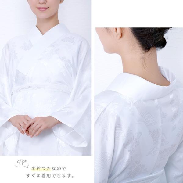(長襦袢 白/ピンク) 洗える 長襦袢 半襟付 レディース 女性 衣紋抜き 大きいサイズ 襦袢 着物 和服 訪問着 S/M/L/TL/BL|kyoetsuorosiya|09
