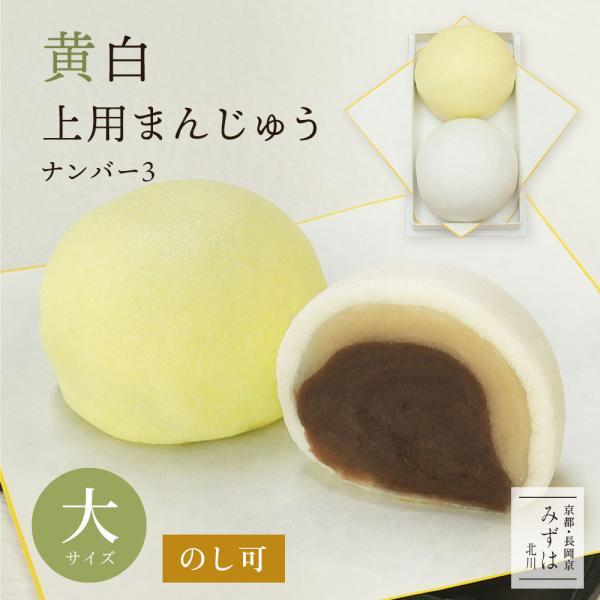 黄白上用まんじゅう2個組(サイズ大:ナンバー3)