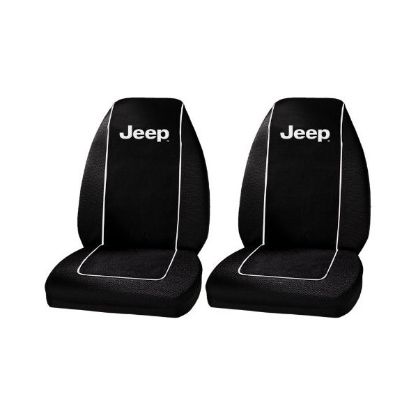 One Pair Plasticolor 6563R01 Jeep Logo Front Bucket Seat Covers