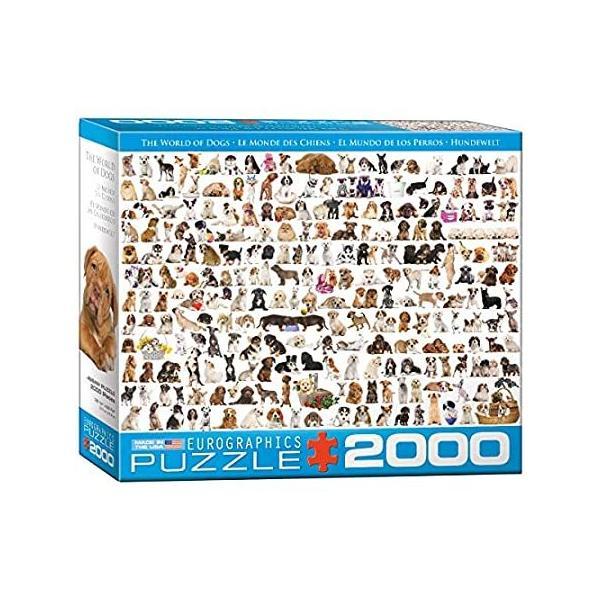 ジグソーパズル 2000ピース ユーログラフィックス 犬の世界 8220-0581