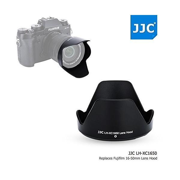 JJC ABS Reversible Black Lens Hood for Fujifilm Fujinon XC 16-50mm f/3.5-5.6 OIS II Lens on X-T2 X-T1 X-T20 X-T10 X-A10 X-A5 X-E3 X-E2S X-A3 X-A2 X-A1