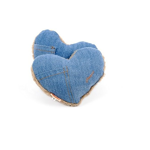 Stock Show 2Pcs Cute Jean Cloth Lambwool Pet Pillow Small Squeak Squeaker Squeaky Tooth Cleaning Stuffed Molar Toy for Small Medium Dog/Puppy/Pup/Cat/
