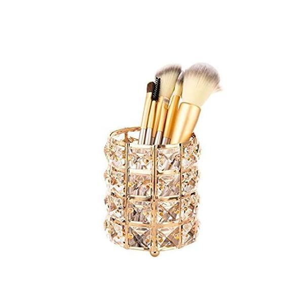 Feyarl キャンドルスタンド キャンドルホルダー 円筒型 蝋燭ホルダー ロマンチック ろうそくたて ゴールド