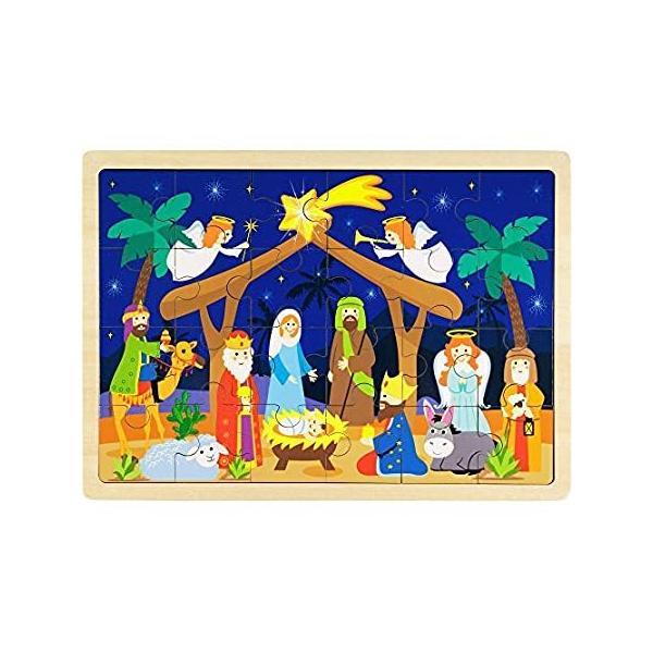 Imagination Generation O Holy Night キリスト降誕シーン 24ピース 木製クリスマスジグソーパズル はめ込みフレーム