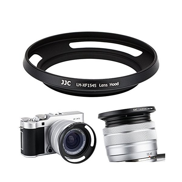 JJC 52mm Screw-In Lens Hood Shade for Fuji Fujifilm Fujinon XC 15-45mm F3.5-5.6 OIS PZ Camera Lens Hood on X-T100 X-A5 X-H1 X-Pro2 X-Pro1 X-T2 X-T1 X-