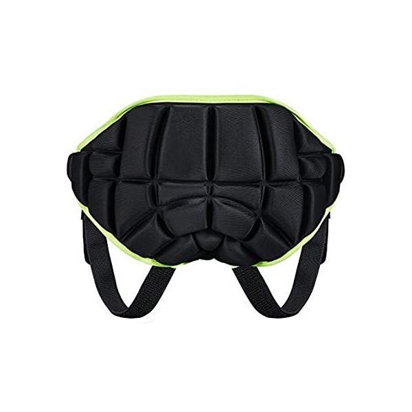 KUYOU 3Dパッド入り保護ヒップ、キッズ保護ヒップパッドショーツ 滑り止め調整可能軽量子供用バットパッドパンツ スキースケートスノーボードローラー