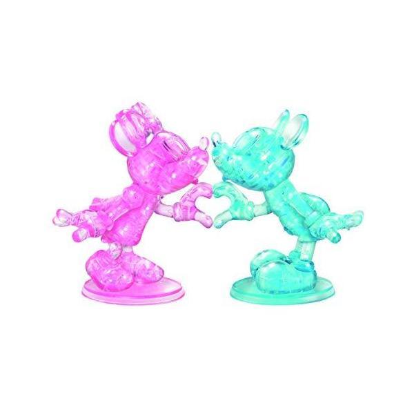Bepuzzled デラックス3Dクリスタルジグソーパズル - ディズニーミッキー&ミニーマウス ハートハンド 脳の