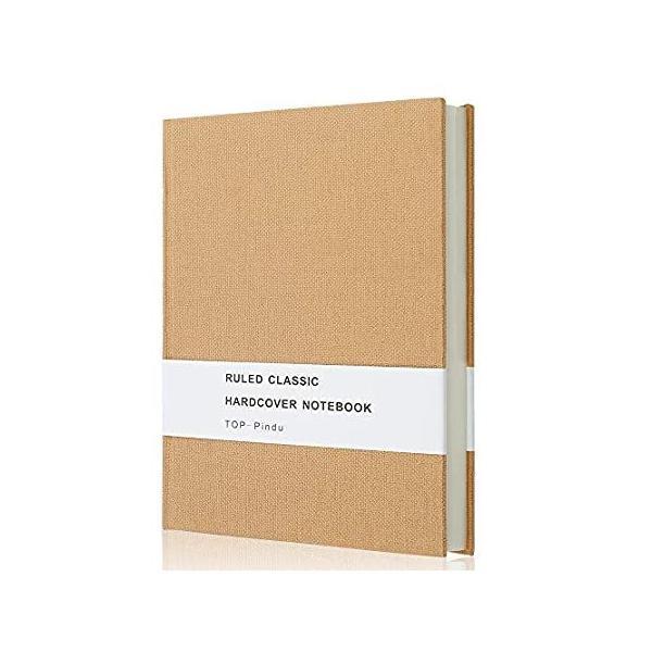 ノートA5ジャーナル 厚手クラシックノート 大判ハードカバー 296pp 80gsm、8.4×5.7インチ