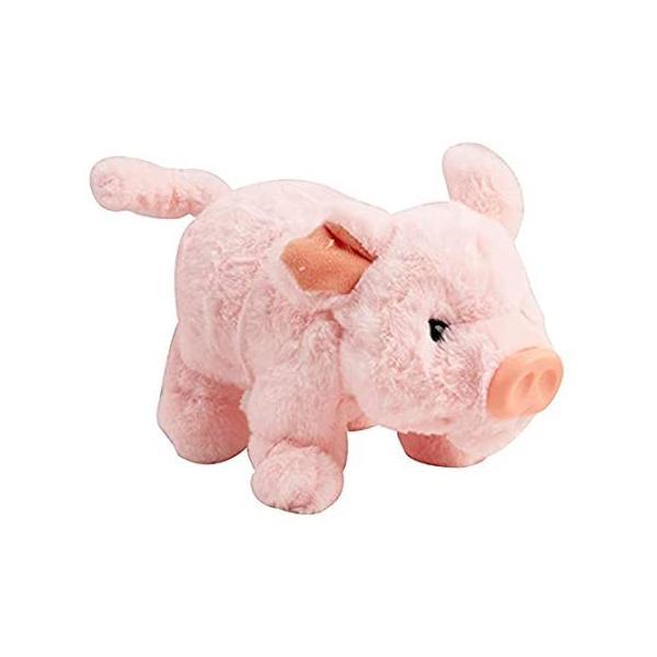 Vokodo 遊び心のあるブタの散歩 音を立てる 鼻と尻尾 インタラクティブ ブタ キッズ ソフト 抱きしめたくなる電子ペット 電池式 動物おもちゃ