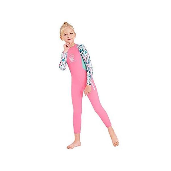 キッズ ガールズ ボーイズ ウェットスーツ フルボディ ネオプレン サーマル 水着 2.5mm 幼児 ユース 子供 ティーン用、長袖子供用スキューバダ