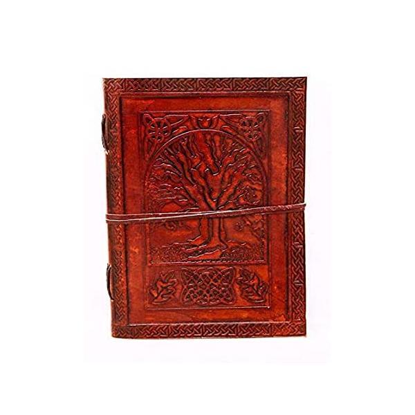 18cm 生命の樹 レザー ブランクブック グリモア レザー 日記帳 影 スペル ブック レザー 日記 日記 ノート スケッチブック アーティストへの