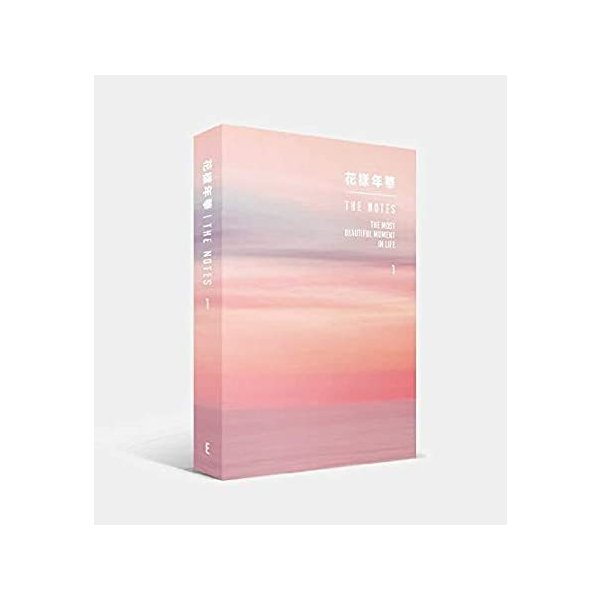 Big Hit BTS 防弾少年団 - [花飾り付きアンチレア ザ・ノート1] 230p ブック [英語版] + BTS 両面フォトカードセット