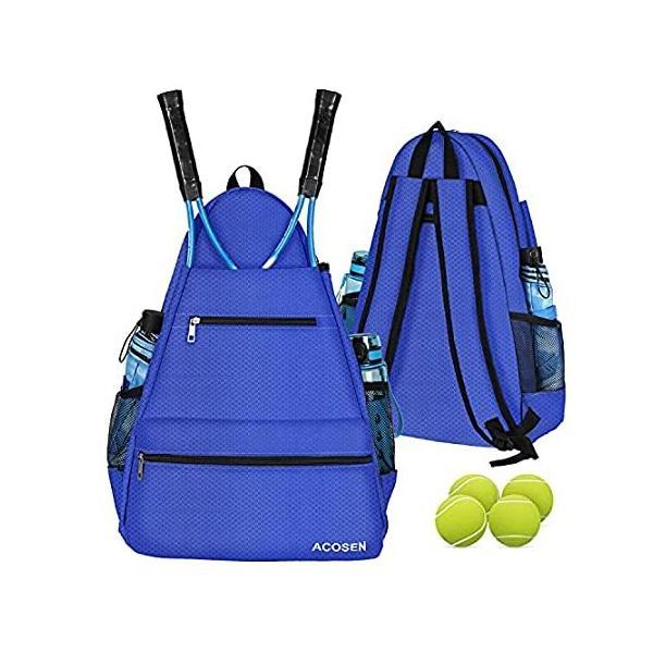 ACOSEN テニスバッグ テニスバックパック - テニスラケット ピックルボールパドル バドミントンラケット スカッシュラケット ボールその他のアク 並行輸入品