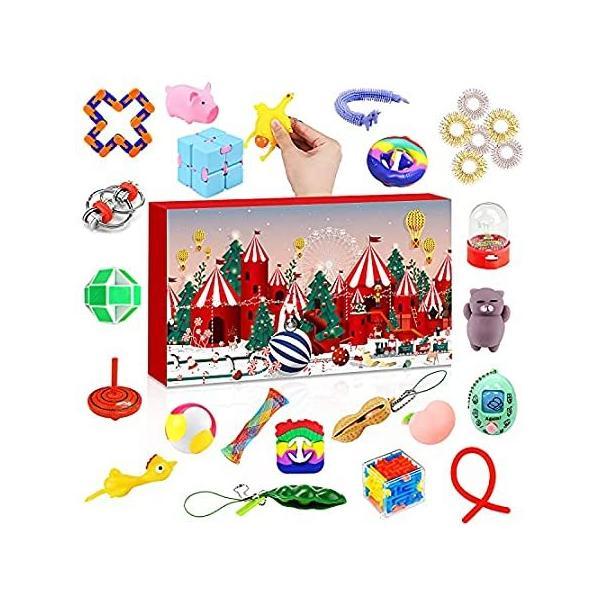 Fidget Sensory Toys アドベントカレンダー 2021 クリスマス 24日 カウントダウンカレンダー 安い 感覚 フィジェットおもちゃ