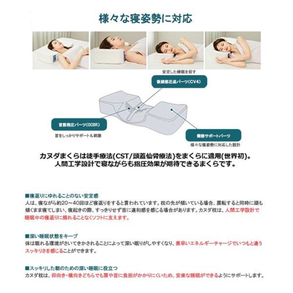 カヌダ ブルーラベル アレグロ枕(まくらのみ) 安眠 枕|kyokusenbi|05