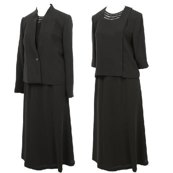ブラックフォーマル 喪服 日本製 レディース 40代 50代 60代 女性 礼服 国産 7t129 ロング 前開き|kyonenya|02