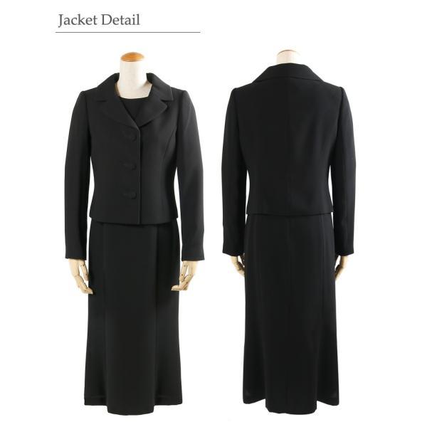 ブラックフォーマル レディース 喪服 ロング 女性 礼服 ワンピース スーツ T199|kyonenya|05