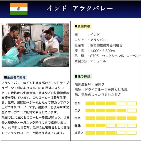 コーヒー豆 コーヒー 珈琲 250g インド アラクバレー Gems of Araku2019 2位入賞ロット|kyoto-coffee|02