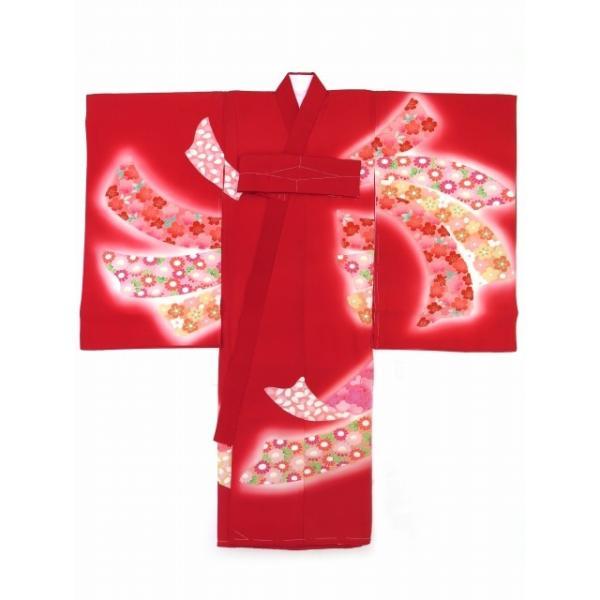 お宮参り 着物 女の子 赤ちゃん 産着 正絹 お祝い着  初着「赤 束ね熨斗」HGU809|kyoto-muromachi-st|02