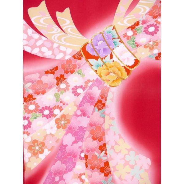 お宮参り 着物 女の子 赤ちゃん 産着 正絹 お祝い着  初着「赤 束ね熨斗」HGU809|kyoto-muromachi-st|03