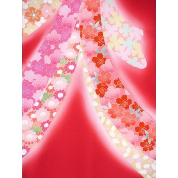 お宮参り 着物 女の子 赤ちゃん 産着 正絹 お祝い着  初着「赤 束ね熨斗」HGU809|kyoto-muromachi-st|04