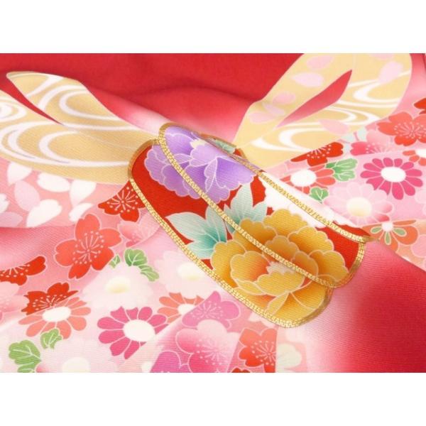 お宮参り 着物 女の子 赤ちゃん 産着 正絹 お祝い着  初着「赤 束ね熨斗」HGU809|kyoto-muromachi-st|05