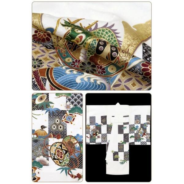 お宮参り 着物 男の子 赤ちゃんのお祝い着 産着 初着 正絹 選べる色柄 IBU02|kyoto-muromachi-st|12