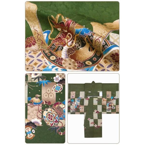 お宮参り 着物 男の子 赤ちゃんのお祝い着 産着 初着 正絹 選べる色柄 IBU02|kyoto-muromachi-st|06