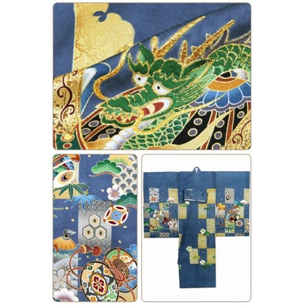 お宮参り 着物 男の子 赤ちゃんのお祝い着 産着 初着 正絹 選べる色柄 IBU02|kyoto-muromachi-st|10