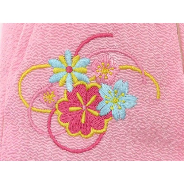 子供用巾着 浴衣 卒園式袴姿 七五三着物に「ピンク、桜と水引き」KKN-P|kyoto-muromachi-st|02