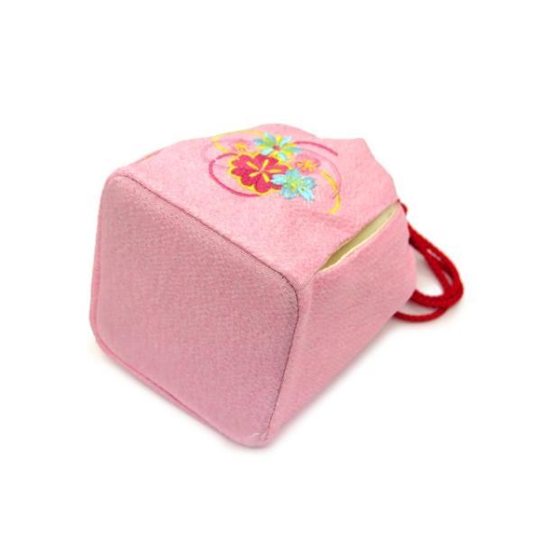 子供用巾着 浴衣 卒園式袴姿 七五三着物に「ピンク、桜と水引き」KKN-P|kyoto-muromachi-st|03