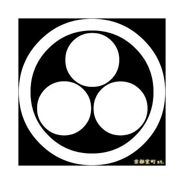 家紋シール 着物用 貼り付け家紋 6枚入り「丸に三ツ星」 ネコポス可 KOM190 kyoto-muromachi-st