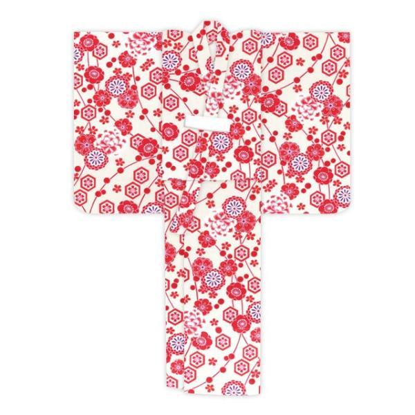 浴衣 子供 古典柄 女の子 子供浴衣 選べる3サイズ 100 110 120「赤系 古典柄」OCN-8A-ya|kyoto-muromachi-st|04