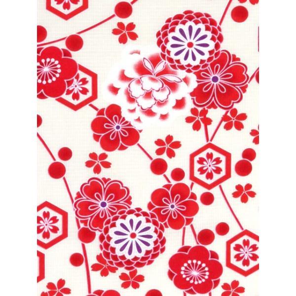 浴衣 子供 古典柄 女の子 子供浴衣 選べる3サイズ 100 110 120「赤系 古典柄」OCN-8A-ya|kyoto-muromachi-st|05