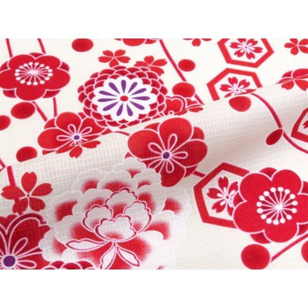 浴衣 子供 古典柄 女の子 子供浴衣 選べる3サイズ 100 110 120「赤系 古典柄」OCN-8A-ya|kyoto-muromachi-st|06