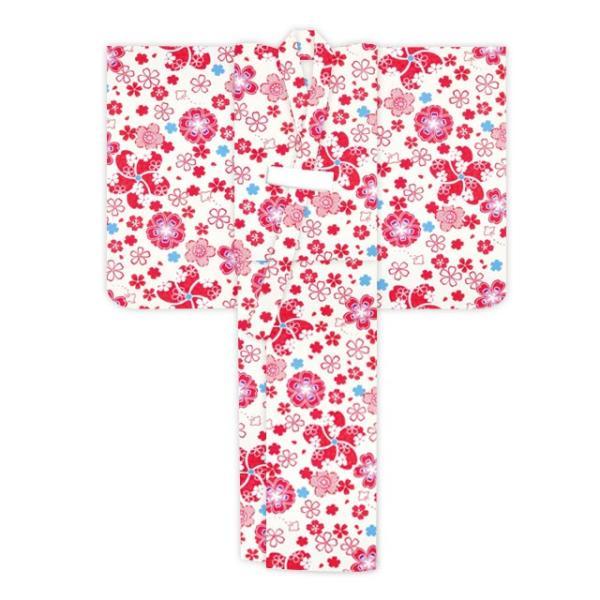 浴衣 子供 古典柄 女の子 子供浴衣 選べる3サイズ 100 110 120「赤系 桜と千鳥」OCN-9A-ya kyoto-muromachi-st 04