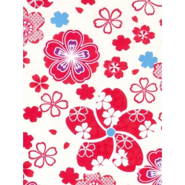 浴衣 子供 古典柄 女の子 子供浴衣 選べる3サイズ 100 110 120「赤系 桜と千鳥」OCN-9A-ya kyoto-muromachi-st 05