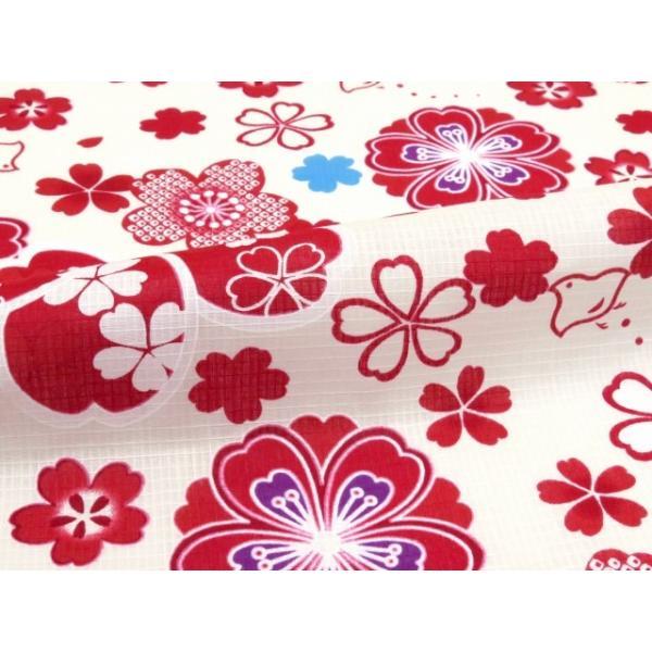 浴衣 子供 古典柄 女の子 子供浴衣 選べる3サイズ 100 110 120「赤系 桜と千鳥」OCN-9A-ya kyoto-muromachi-st 06