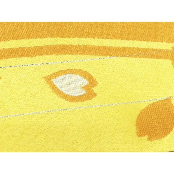 浴衣 帯 レディース R・K ブランド 長尺 リバーシブル 半幅帯 合繊「黄色 桜」RKO781|kyoto-muromachi-st|04