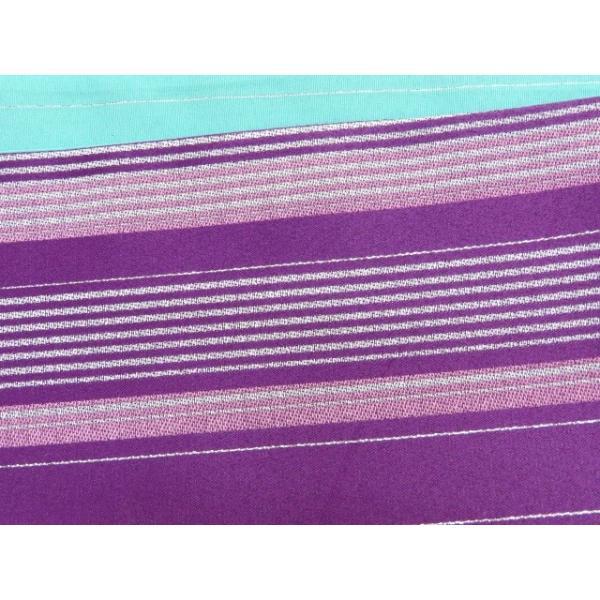 浴衣 帯 レディース R・K ブランド 長尺 リバーシブル 半幅帯 合繊「紫 ストライプ」RKO790 kyoto-muromachi-st 03