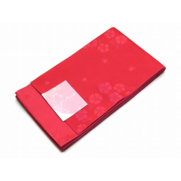 浴衣帯 ゆかた帯 単(ひとえ)の半幅帯 リバーシブル「チェリーレッド、なでしこ」TGO273 kyoto-muromachi-st 02