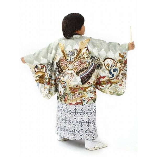 bbcb9c21ecef6 ... 七五三 5歳 着物セット 男の子用 和がままブランドの羽織 袴セット 合繊 ...