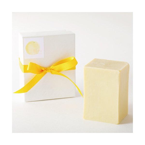 オリーブオイルで作った 洗顔石けん ブルウリラックス スィートシトラス系の香り 90g |kyoto-savonya|05