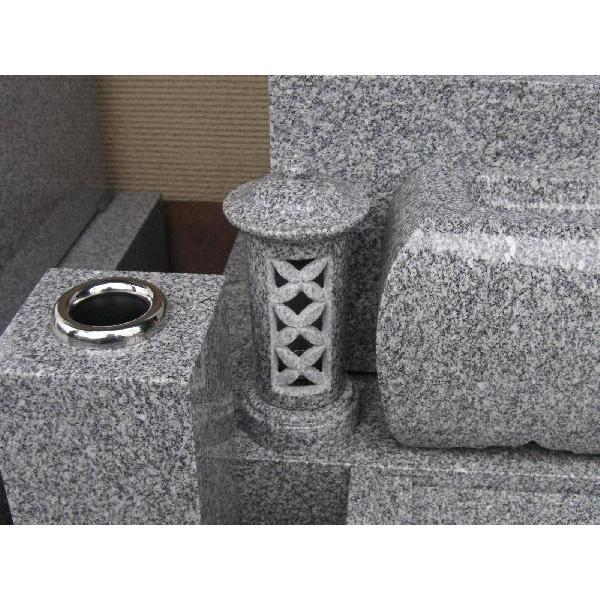 お墓用石製ローソク立て(ろうそく立て・蝋燭立て)(1本)