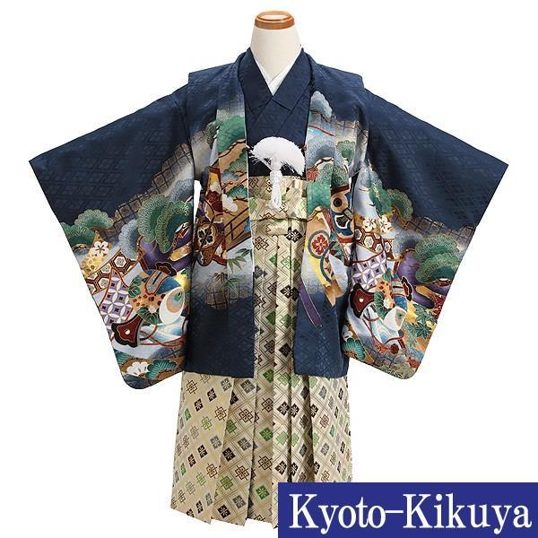 七五三 レンタル着物とはかま 男の子 5歳 753B4-36 /着付け手順書付き kyotokikuya